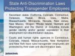 state anti discrimination laws protecting transgender employees