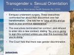 transgender v sexual orientation cont enriquez v west jersey health systems n j 2001