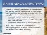 what is sexual sterotyping
