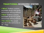 traditional economic system1