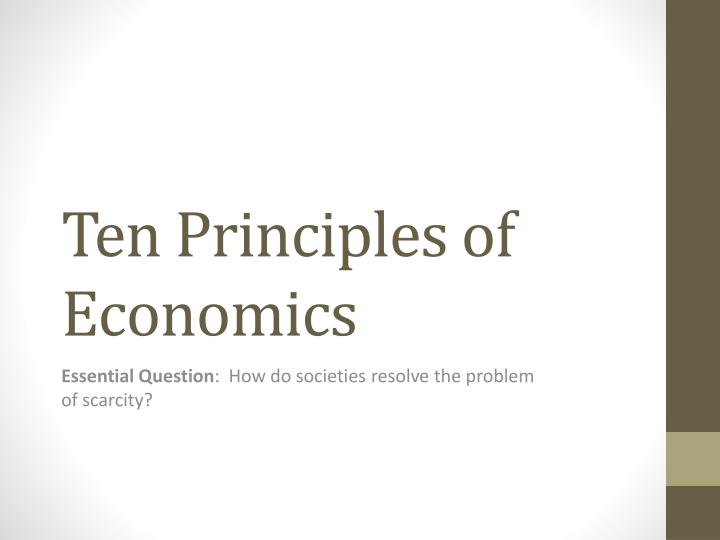 ten principles of economics n.
