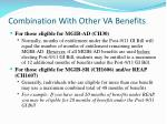 combination with other va benefits