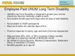employee paid unum long term disability