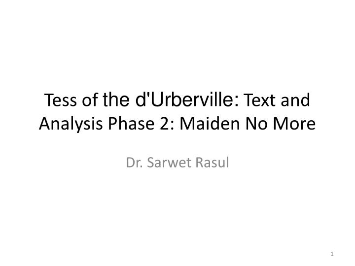tess of the d urberville text and analysis phase 2 maiden no more n.