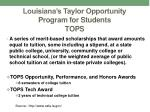 louisiana s taylor opportunity program for students tops