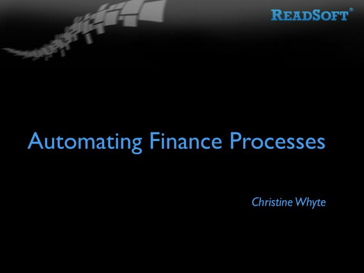 automating finance processes n.