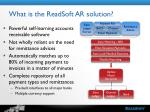what is the readsoft ar solution