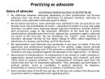 practicing as advocate