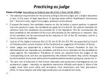 practicing as judge