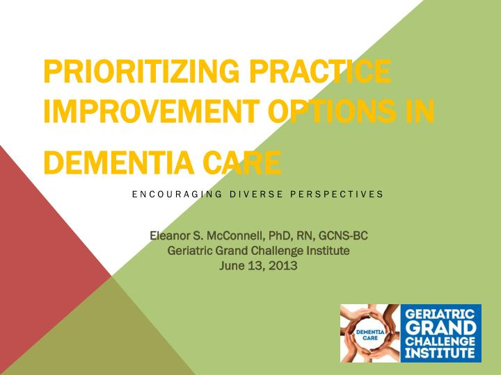 prioritizing practice improvement options in dementia care n.