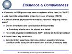 existence completeness1