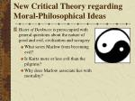 new critical theory regarding moral philosophical ideas