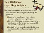new historical regarding religion