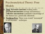 psychoanalytical theory four models1