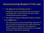 deconstructing newton s first law
