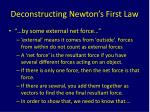 deconstructing newton s first law1