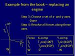 example from the book replacing an engine3