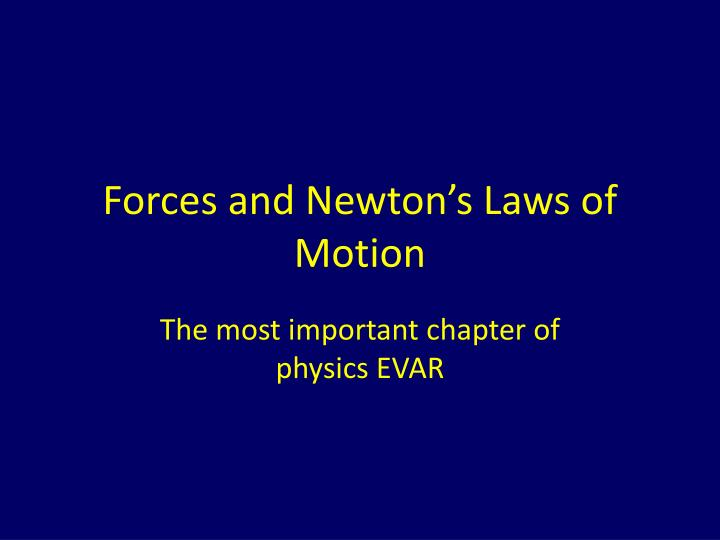 forces and newton s laws of motion n.
