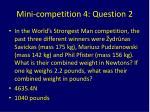 mini competition 4 question 2