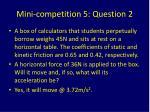 mini competition 5 question 2