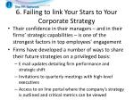 6 failing to link your stars to your corporate strategy