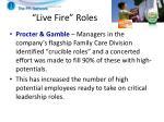 live fire roles