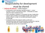 responsibility for development must be shared