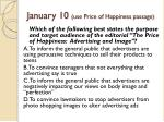 january 10 use price of happiness passage