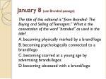 january 8 use branded passage