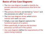 basics of use case diagrams