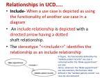 relationships in ucd