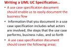 writing a uml uc specification