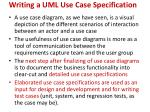 writing a uml use case specification