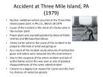 accident at three mile island pa 1979