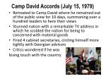 camp david accords july 15 1979