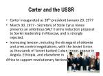 carter and the ussr