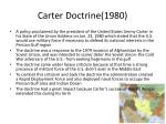 carter doctrine 1980