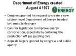department of energy created august 4 1977