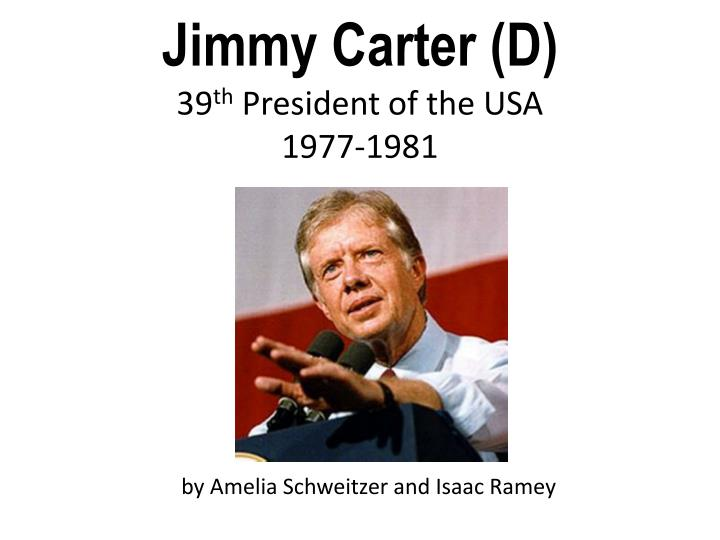 jimmy carter d 39 th president of the usa 1977 1981 n.