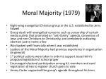 moral majority 1979