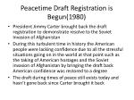 peacetime draft registration is begun 1980