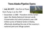 trans alaska pipeline opens