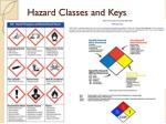 hazard classes and keys