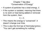 chapter 7 big idea conservation of energy