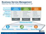 business service management made easy start with a project grow sideways or up