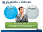top cio operational challenges the great divide
