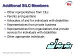 additional silc members