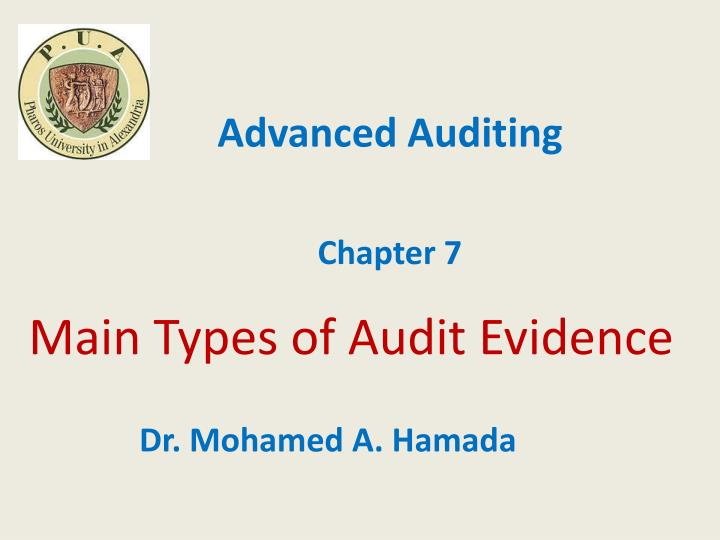 main types of audit evidence n.