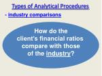 types of analytical procedures
