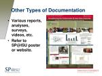other types of documentation